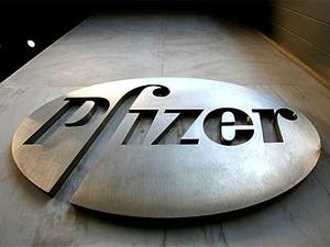 Pfizer metal logo - photo - May 2017