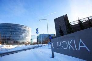 Nokia sign in snow - photo - September 2017