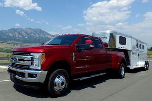 Ford F-Series truck with bullet trailer - photo - November 2017