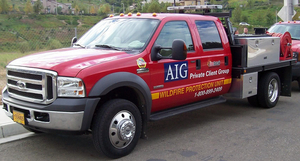 AIG Wildfire Response truck - photo - February 2018